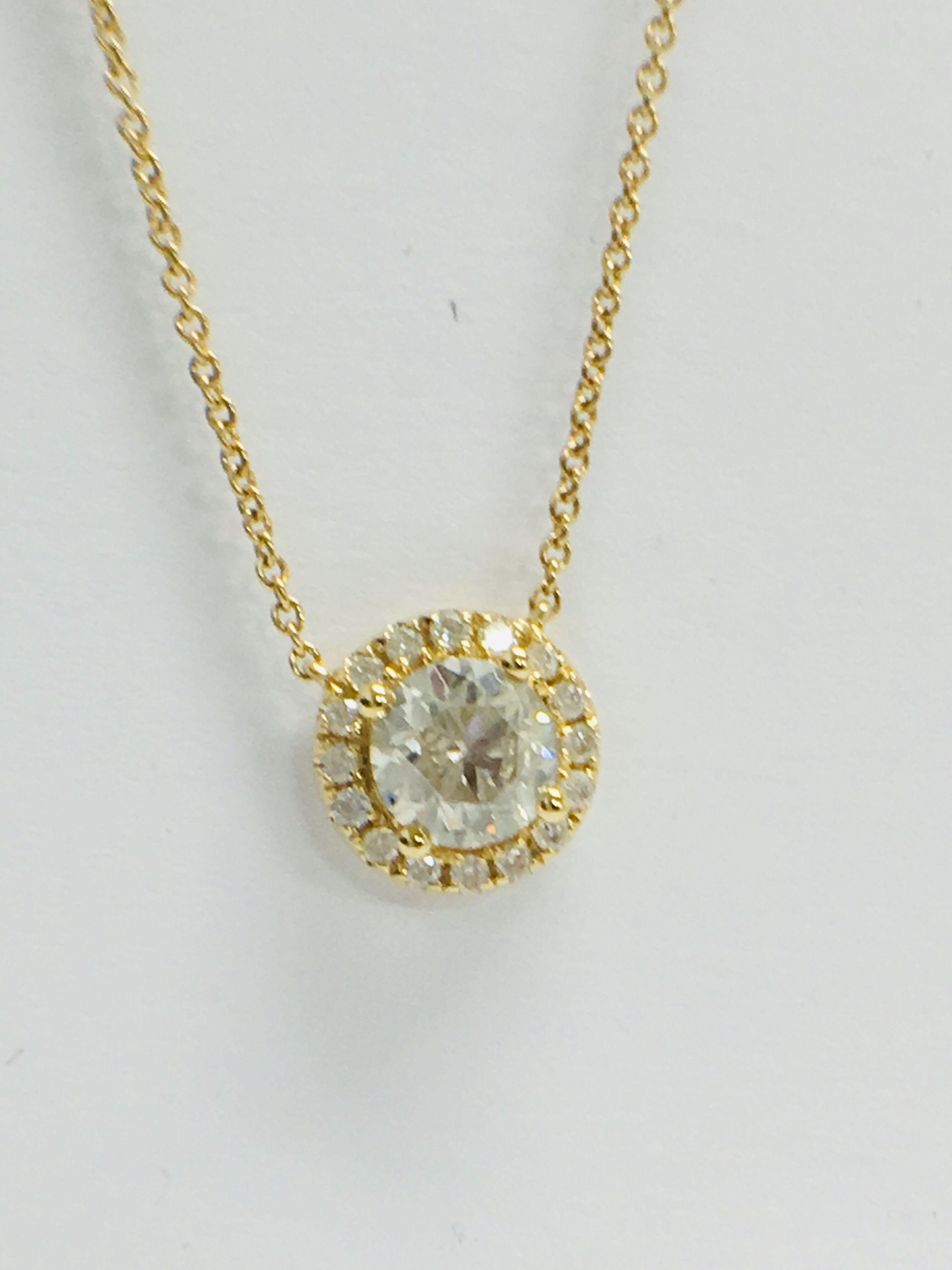 Lot 18 - 18ct Yellow Gold Diamond Necklace tdw