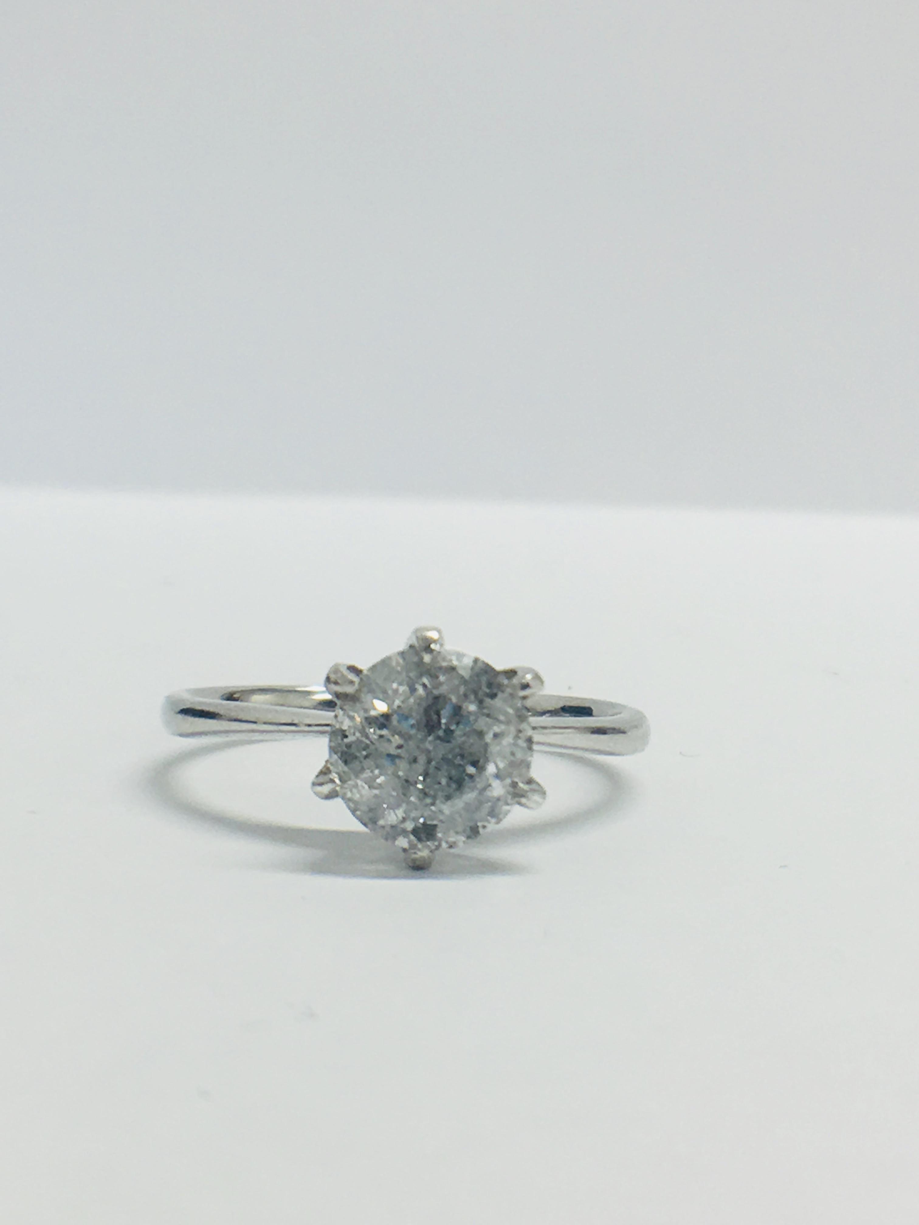 Lot 42 - 1.64ct Platinum Diamond Solitaire Ring