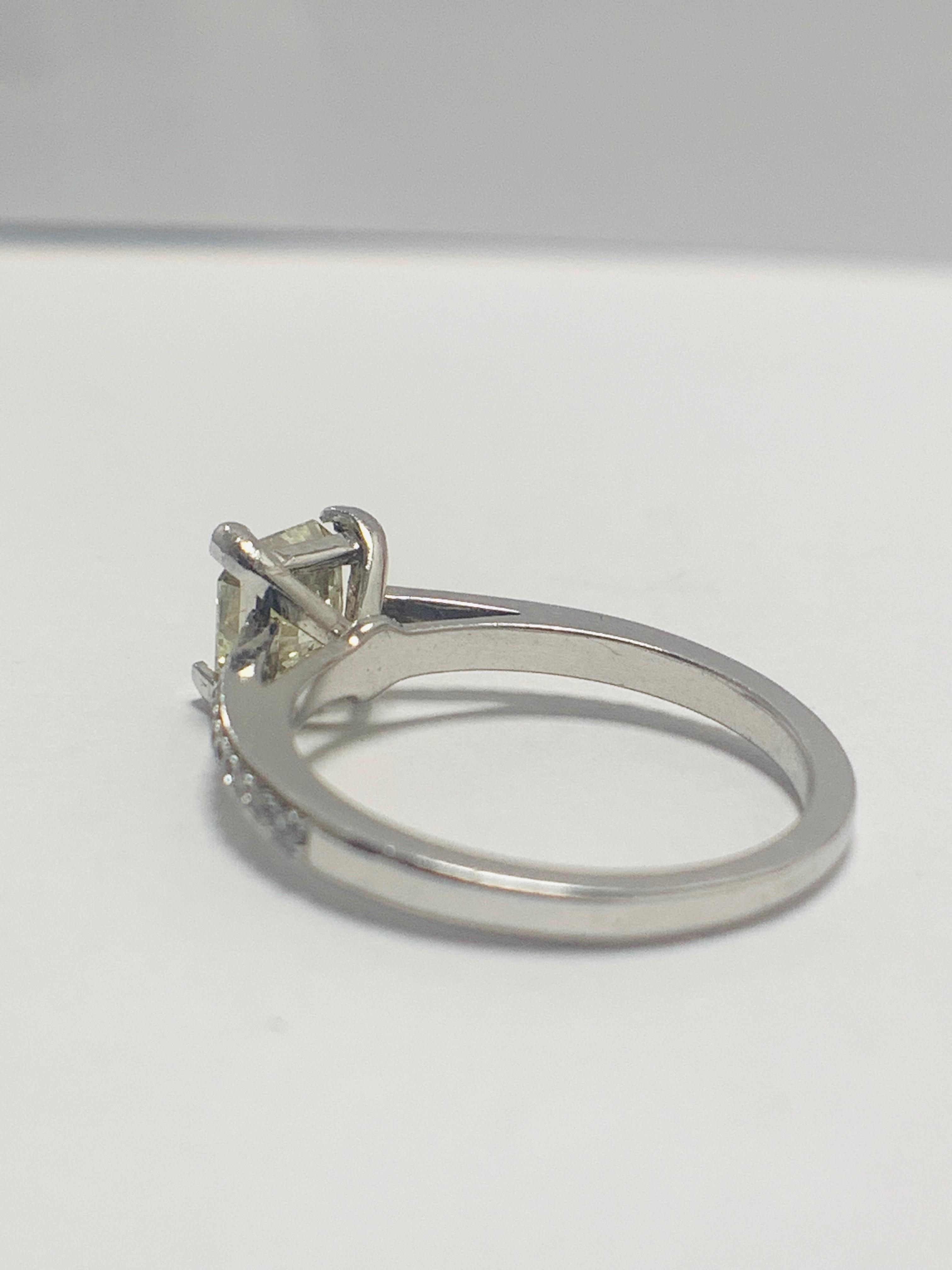 Lot 20 - 1ct Cushion Cut Platinum Diamond Solitaire Ring