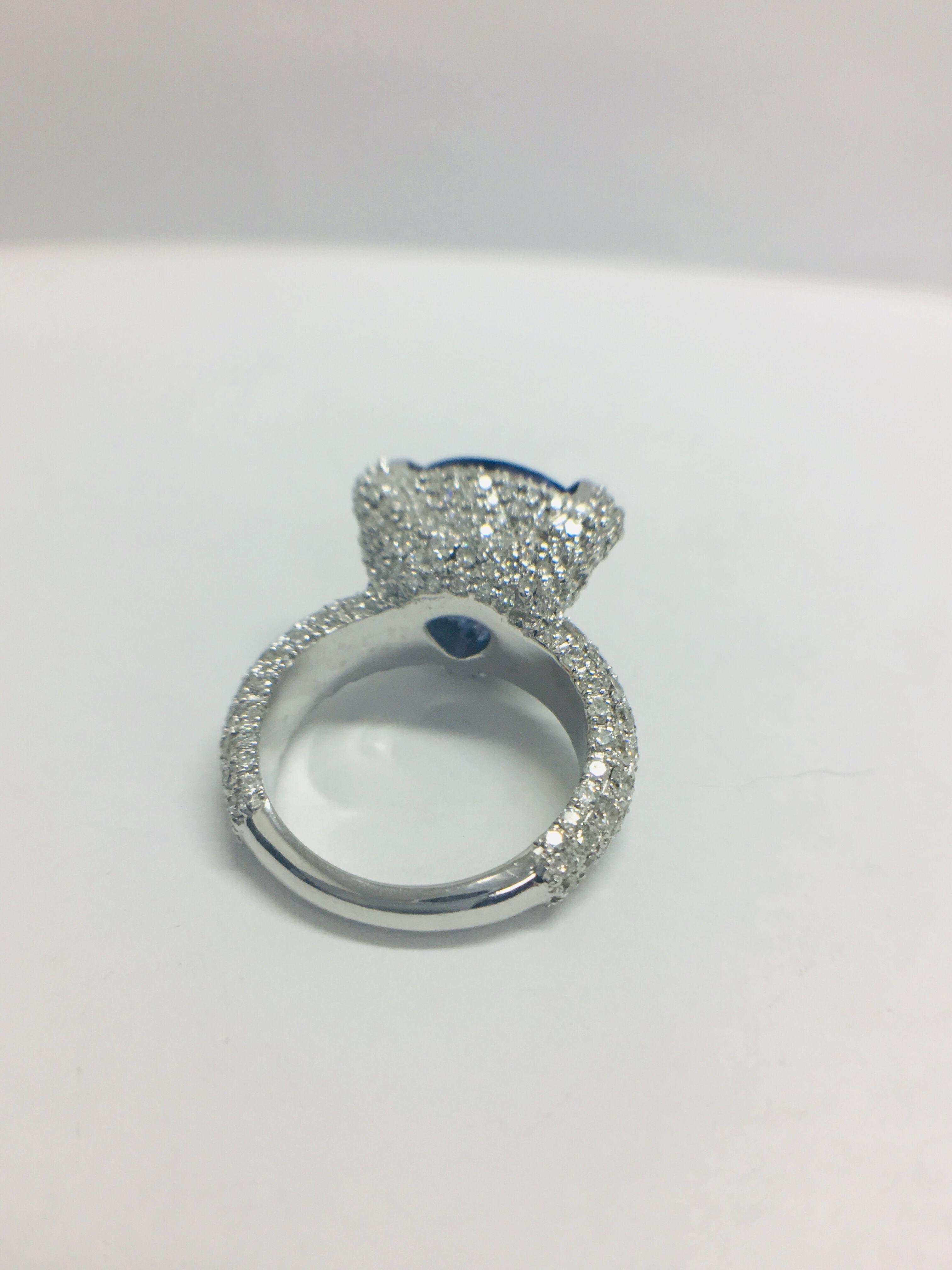 Lot 1 - Platinum Tanzanite Ring