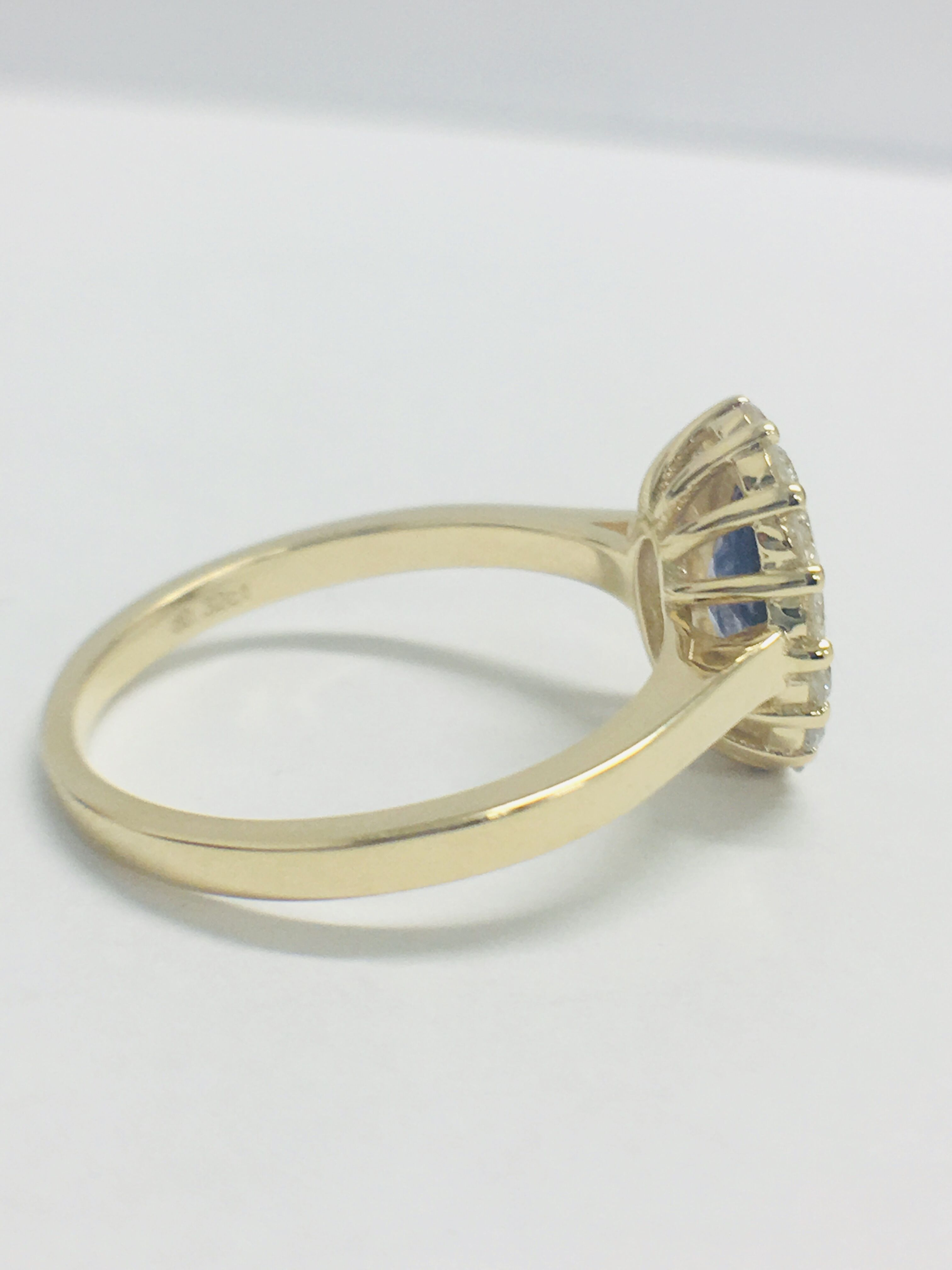 Lot 36 - 14ct Yellow Gold Sapphire and Diamond Ring