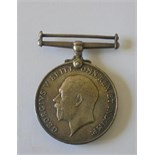 British War Medal named to 62127 Private H.B. Baldwin, Manchester Regiment. Good very fine