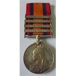Queens South Africa Medal, four clasps, Cape Colony, Orange Free State, Transvaal and South Africa