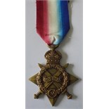 1914-15 Star named to 1891 Private W.S. King, Essex Regiment. Good very fine