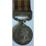 India General Service Medal 1895, VR, clasp Punjab Frontier 1897-98 named to Assistant Surgeon E. De