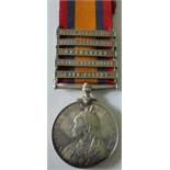 Queens South Africa Medal, five clasps, Cape Colony, Orange Free State, Transvaal, South Africa 1901