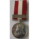Canada General Service Medal, clasp Fenian Raid 1866, named to 1428 Private J. Delaney, 4th Rifle