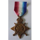 1914-15 Star named to 9975 Private F. Collins, Middlesex Regiment. Nearly extremely fine