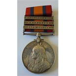 Queens South Africa Medal, three clasps, Cape Colony, Transvaal, South Africa 1901 to Major C.L.