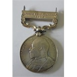 India General Service Medal 1908, Ed VII, clasp North West Frontier 1908 named to 2265 Sepoy Asa