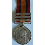 Queens South Africa Medal, three clasps, Cape Colony, Tugela Heights and Relief of Ladysmith named