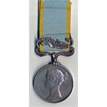Crimea Medal, clasp Sebastopol, officially impressedto R. SANDFORD, 57th REGT. With original