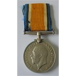 British War Medal named to 43916 Private G. Attwood, Essex Regiment. With copy Medal index card,