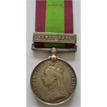 Afghanistan Medal 1878, clasp Ahmed Khel to 1035 Private J. Anderson, 59th Foot. (2nd