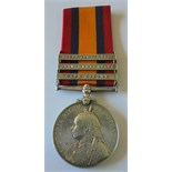 Queens South Africa Medal, three clasps, Cape Colony, Orange Free State, South Africa 1902 to 6237