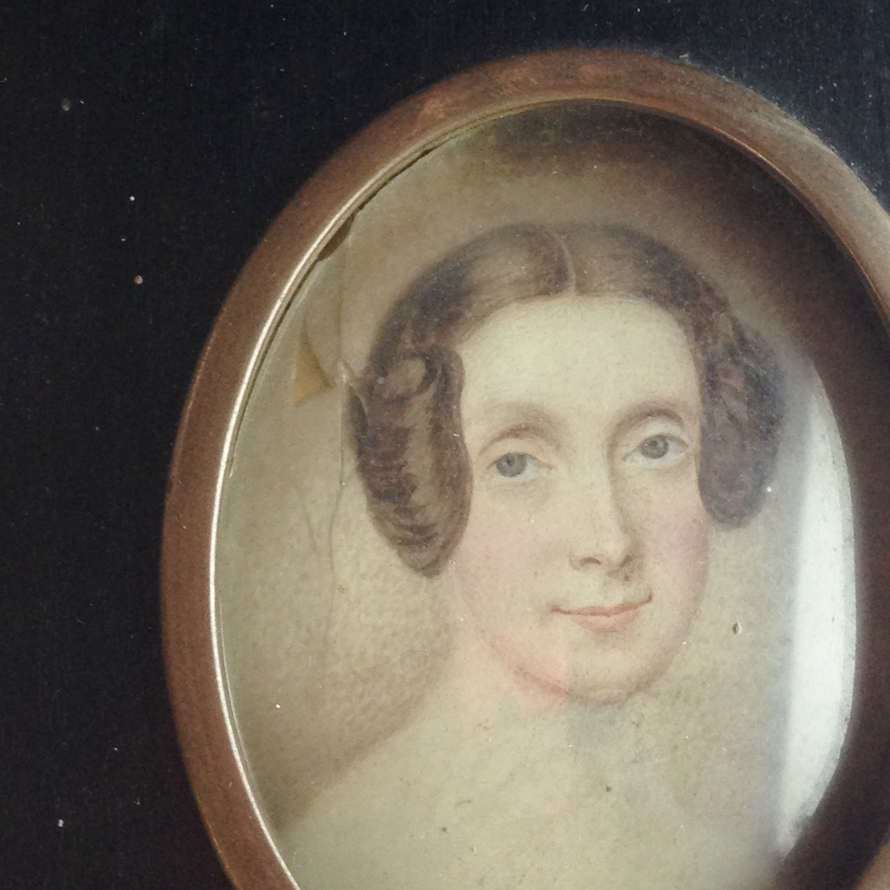 Lot 592 - English School (18th Century) Portrait miniature of Margaret Radley, wife of Henry Leader of Mount