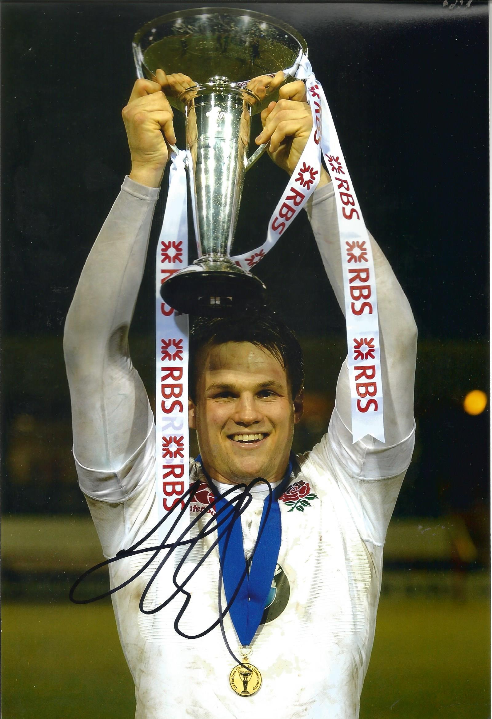 Lot 472 - Jack Clifford Rugby signed 12x8 colour photo. Good Condition. All signed pieces come with a