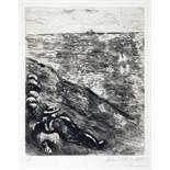 Marc Chagall. La berger et la mer. Radierung. 1952. 29,8 : 23,8 cm (41,4 : 33,6 cm). Signiert und