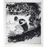 38 Radierungen. Um 1890-1920. 16 Blätter signiert. Inhaltsreiches Konvolut mit 38 Radierungen