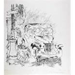 George Grosz. P. S.: The Baby was saved. Rohr- und Tuschfeder. 1941. 43,5 : 44,0 cm (59,2 : 46,0