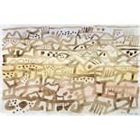 Eduard Bargheer. Ohne Titel. Aquarell über Bleistift. 1964. 31,0 : 47,5 cm. Signiert und datiert. In