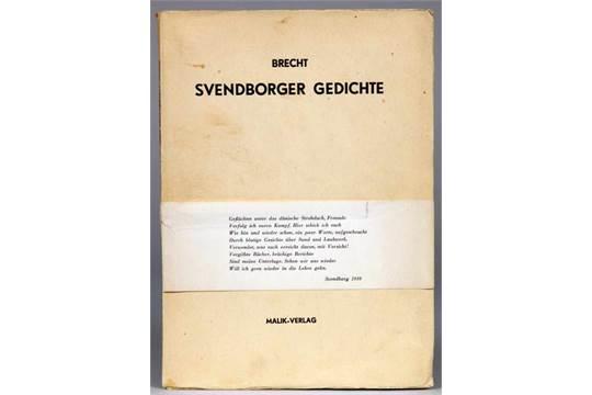 Bertolt Brecht Svendborger Gedichte London Malik 1939