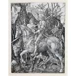 Albrecht Dürer. Der Reiter (Ritter, Tod und Teufel). Kupferstich. 1513. 24,6 : 18,8 cm. In der
