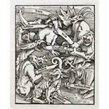 Hans Baldung Grien. Die sieben Hauptsünd. Holzschnitt. 1511. 17,2 : 13,8 cm (29,5 : 18,7 cm). Der