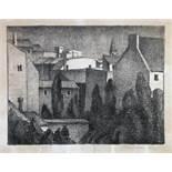 Alexander Kanoldt. Aus Schwabing. Lithographie. 1927. 23,8 : 31,3 cm (28,8 : 36,4 cm). Signiert