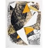 Marino Marini. Komposition (für XXe siècle 21). Farblithographie. 1963. 31,0 : 23,5 cm (43,5 : 32,