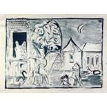 Werner Gilles. Abschied des jungen Tobias. Farbige Lithographie. 1947. 36,5 : 50,5 cm (48 : 67
