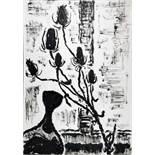 Karl Schmidt-Rottluff. Ohne Titel (Stillleben). Tuschpinselzeichnung. 1967. 70,3 : 49,8 cm.