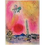 Marc Chagall. La place de la Concorde. Farblithographie. 1963. 39,0 : 30,0 cm. Eins von 20