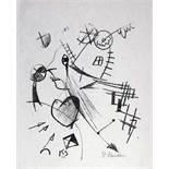 Kurt Schwitters. Komposition mit Kopf im Linksprofil. Lithographie. 1921. 24 : 20 cm (37,8 : 27,3