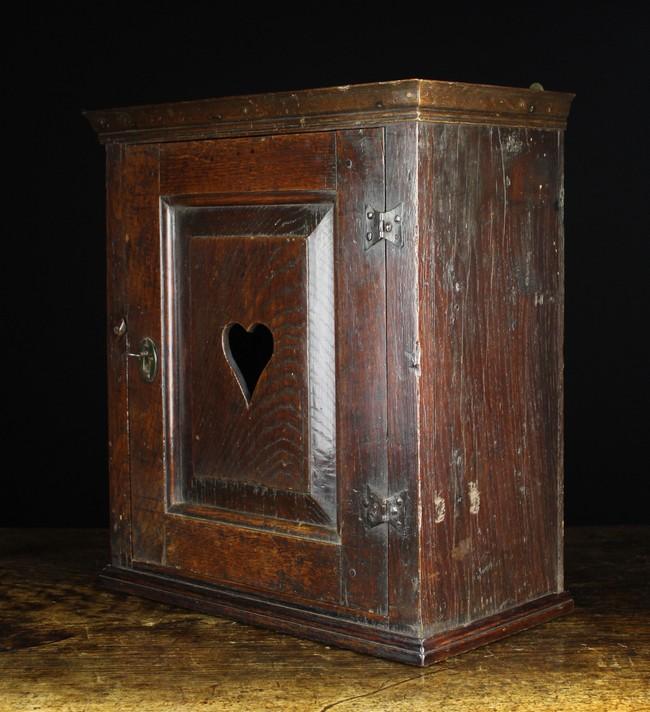 Lot 96 - An 18th Century Joined Oak Wall Cabinet.