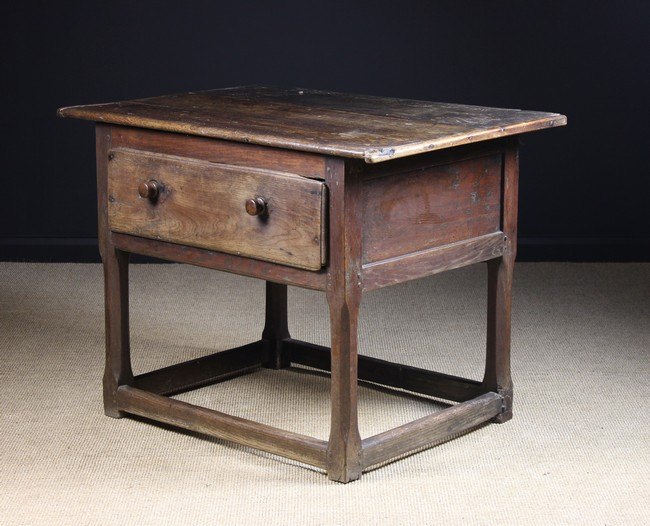 Lot 70 - An 18th Century Joined Oak Welsh Country Table.