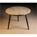 A Large 19th Century Burrwood Cricket Table.