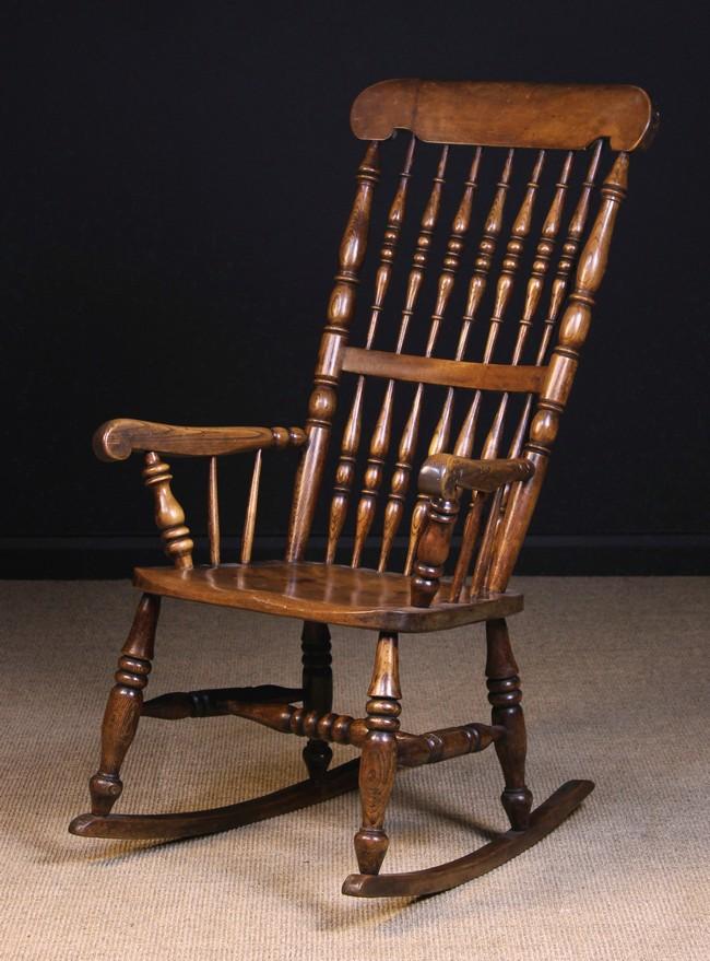 Lot 112 - A 19th Century 'Caistor' Rocking Chair Circa 1850-90.