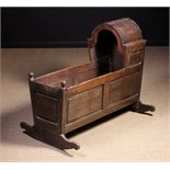 An 18th Century Joined Oak Cradle.