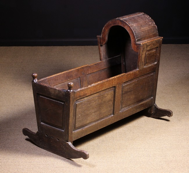 Lot 89 - An 18th Century Joined Oak Cradle.