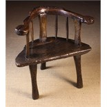 A Fabulous, Imposing 18th/Early 19th Century Primitive Chair of rich colour and patination.