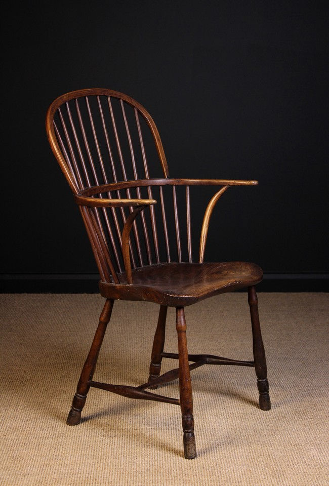 Lot 86 - A 19th Century Stick Back Windsor Armchair.