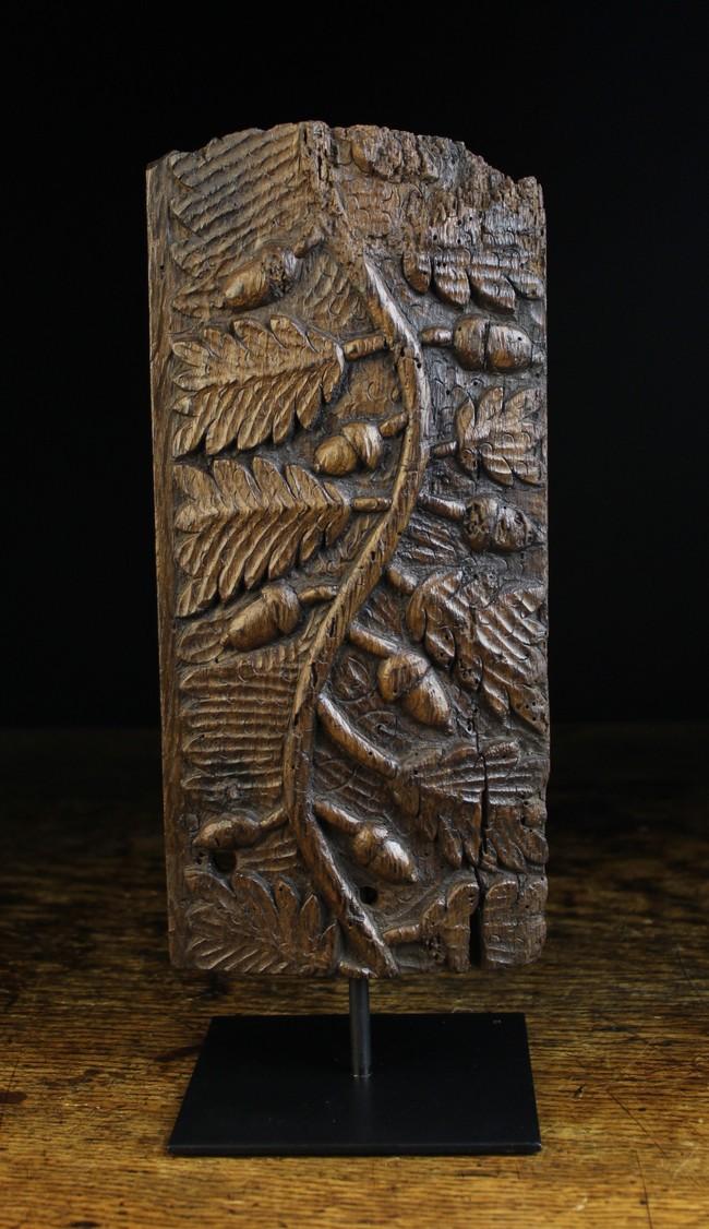 Lot 32 - A 17th Century Carved Oak Frieze Fragment.