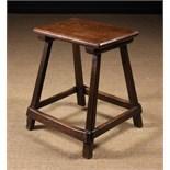 A 19th Century Elm Table/Stool.
