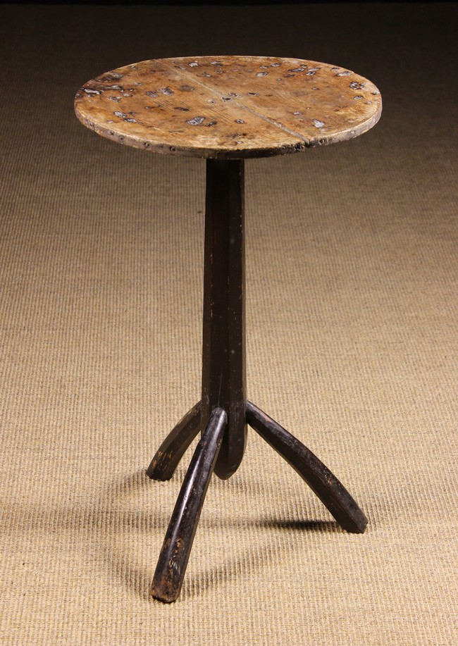 Lot 60 - An 18th Century Provincial Lamp Table/Candlestand.