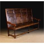 An 18th Century Oak Settle.