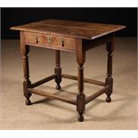 A Late 17th/Early 18th Century Oak Side Table.