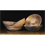 A Collection of Five Turned Treen Bowls (A/F).