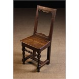 A Small 17th Century French Child's Side Chair.