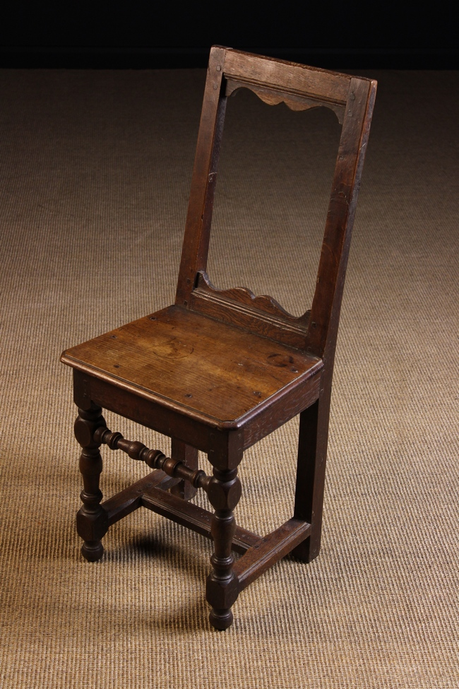 Lot 90 - A Small 17th Century French Child's Side Chair.